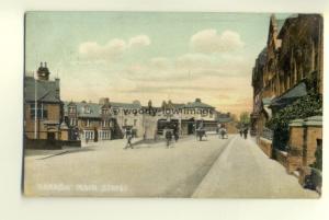 tp6296 - Middx - The Main Street & Kings Head Hotel at Harrow in 1921 - Postcard