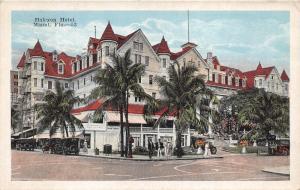 Miami Beach Florida~Halcyon Hotel~People @ Street Corner~Vintage Cars~Palms~'20s