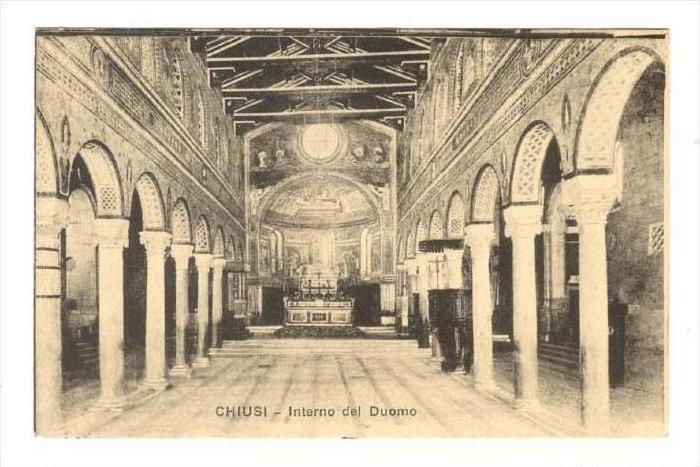 Chiusi , province of Siena, Tuscany , Italy 00-10s : Interno del Duomo