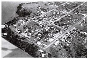 Vintage Repro 1936 Australia Postcard, Aerial View of Darwin 84C