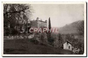 Postcard Modern Bourdeau Chateau du Bourget Lake and Mont Revard