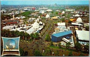1964 NEW YORK WORLD'S FAIR Expo Postcard Bird's-Eye Fairgrounds View - Unused
