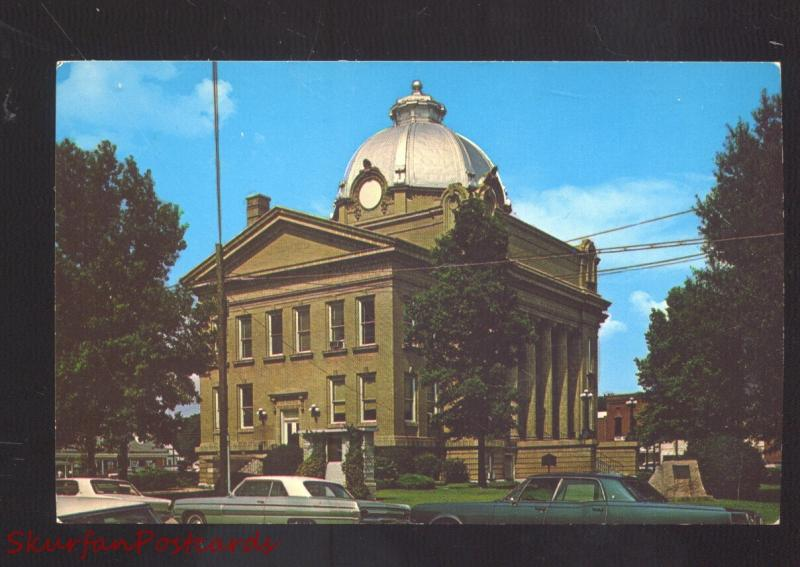 OSCEOLA ARKANSAS MISSISSIPPI COUNTY COURT HOUSE 1960's CARS VINTAGE POSTCARD