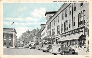 White River Junction Vermont South Main Street Scene Antique Postcard K28139