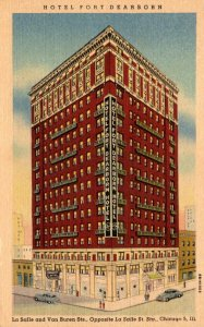 illinois Chicago Hotel Fort Dearborn Curteich