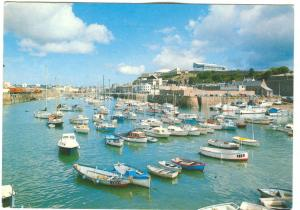 UK, Jersey, Old Harbour, St. Helier, 1990 used Postcard