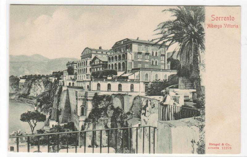 Albergo Vittoria Sorrento Italy 1905c postcard
