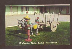 GALLUP NEW MEXICO EL CAPITAN MOTEL DONKEY CART ROUTE 66 ADVERTISING POSTCARD