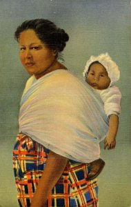 Cherokee Indian Mother and her Papoose