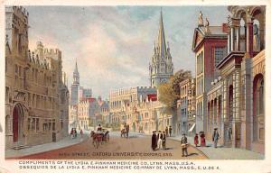 Medicine Advertising Old Vintage Antique Post Card Lydia E Pinkham Medicine C...