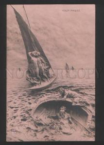 055362 All passes On SEA by MASTROIANNI vintage Allegorie #258