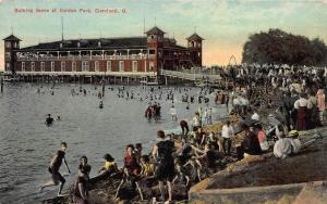 Bathing Scene at Gordon Park, Cleveland, Ohio, early postcard, used in 1912