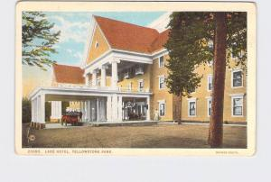 ANTIQUE POSTCARD NATIONAL STATE PARK YELLOWSTONE LAKE HOTEL #1