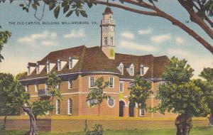 The Old Capitol Building Williamsburg Virginia