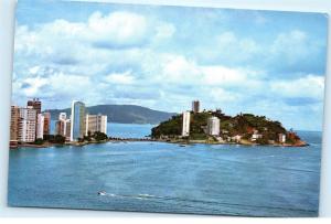 *1960s Sao Vincente Brasil Brazil Porchat Island Town View Vintage Postcard A24