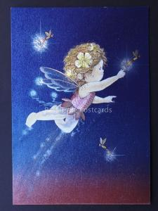 FLYING FAIRY c1980's by F J Warren DUFEX FOIL Postcard 501792