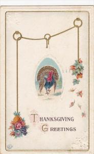 Thanksgiving Greetings Turkey with Wishbone 1913