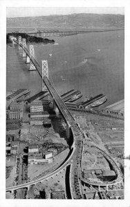 San Francisco-Oakland Bay Bridge Berkeley Hills c1940s Vintage Postcard