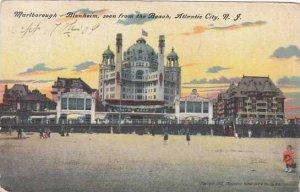 New Jersey Atlantic City Marlborough Blenhaim Seen From The Beach 1909