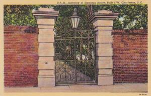 South Carolina Charleston Gateway Simonton House Built 1776 Curteich 1941