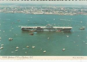 CHARLESTON , South Carolina, 1975 ; Aircraft Carrier USS Yorktown arrival