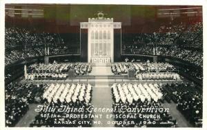 1940 Kansas City Missouri 53 General Convention RPPC real photo postcard 9554