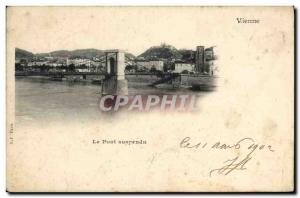 Old Postcard Vienna Suspension Bridge