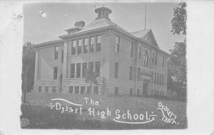 Dysart Iowa~Old High School~Belfry~Postcard RPPC 1907
