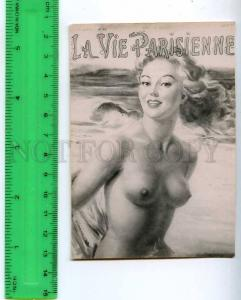 213203 Paris semi-nude girl russian photo miniature card