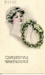 Greeting - Christmas   *Artist Signed: May Farini  (in color)