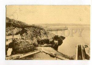 289550 UK DOUGLAS Port Skillion Vintage Tuck 1923 year RPPC to BELGIUM