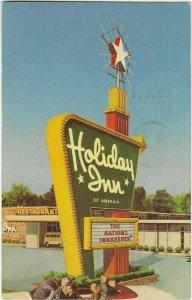 1968 postcard, Holiday Inn sign, Bossier city, Louisiana