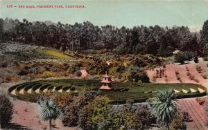 The Maze, Piedmont Park, California, early postcard, used in 1908