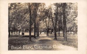 Chatfield Minnesota~Tree-Lined Path Past Gazebo in Public Park~1910 RPPC