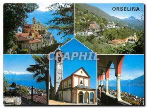 Postcard Modern IT Sopra Locarno Orselina Wallfahrtsort Sanctuario Madonna de...