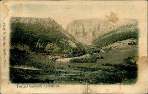 IMR00136 romania cluj cheile turzii gorge general view hasdate river ca 1905