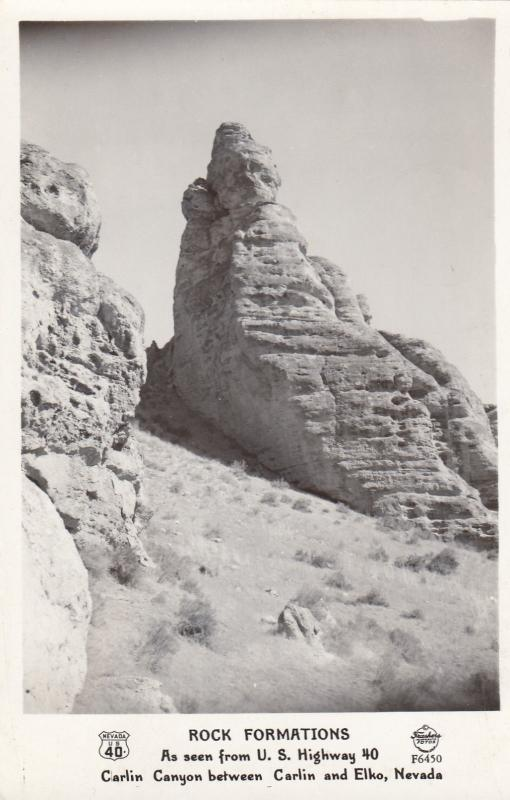 RP: ELKO , Nevada , 30-40s ; Rock Formations, Carlin Canyon