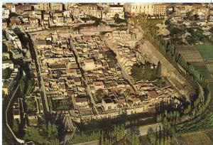 Italy, ERCOLANO SCAVI, Veduta dall' aereo, View from aircraft, unused Postcard