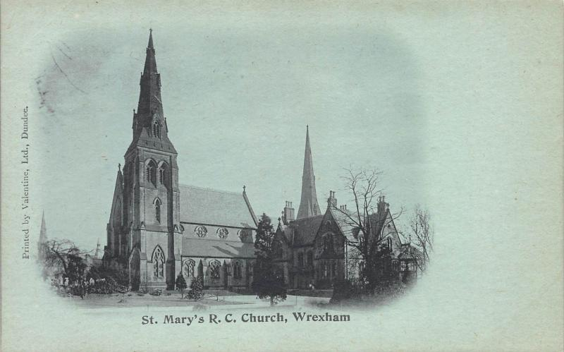 St. Mary's R.C. Church, Wrexham, Wales, Great Britain, Early Postcard, Unused