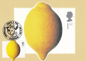 Lemon Fruit Bittering Dereham Norfolk Limited Postmark Postcard