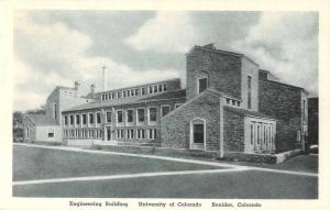 Boulder Colorado University Engineering Building Antique Postcard J51321