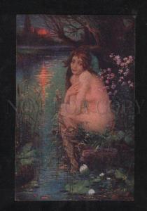 069257 Belle MERMAID as Water Lily by JIRAS vintage ART PC