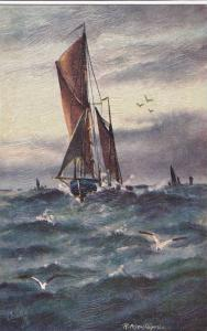 Sailing Vessels, 00-10s : The Busy Ocean , TUCK #9693 #2