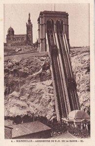 MARSEILLE, Provence-Alpes-Cote d'Azur, France, 1900-1910s; Ascenseurs De N.-D...