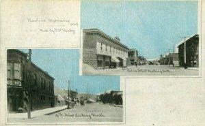 C-1905 Rawlins Wyoming 4th Cedar Street Postcard undivided 7690
