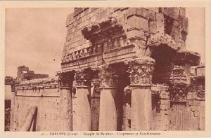 Syria Baalbek Temple de Bacchus Chapiteaux et Entablements