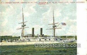 US Cruiser Boston, Chester, PA Military Battleship Unused crease left top cor...