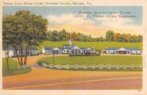 Rectory Virginia Spring Lake Motor Court Linen Antique Postcard K15604