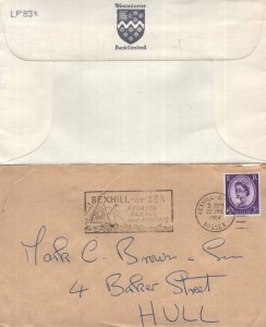 Bexhill On Sea Regatta Rowing Boat Westminster Bank 2x Postmark
