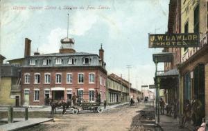 canada, LEVIS, Quebec, Usines Carrier Laine & Station du Feu, Hotel Lawlor 1910s